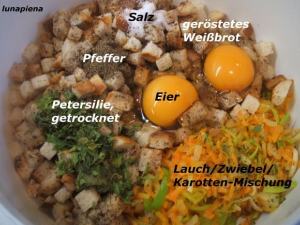Knödel: Gemüseknödel auf Meerrettich-Käse-Soße - Rezept - Bild Nr. 5