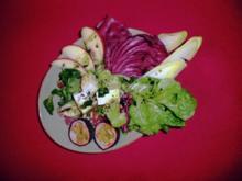 Eingelegter Schafskäse mit Salat - Rezept