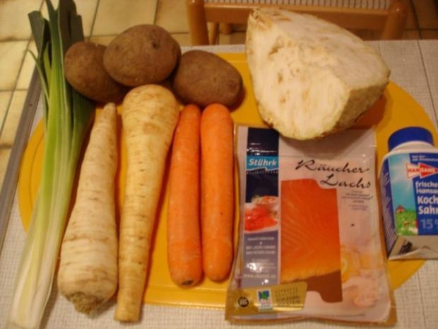 Kartoffelsuppe à la Papa mit Lachsstreifen - Rezept - Bild Nr. 2