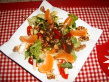 Rezept: Bunter Salat mit Krokant