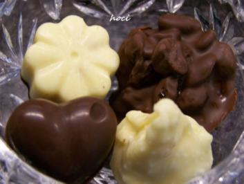 mes quatre chocolats fovoriten ~ mein vier Pralinen Favoriten - Rezept