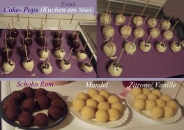 """Cake Pops  (Mandel)  """"Kuchen am Stiel"""" Grundrezept für Backblech - Rezept"""