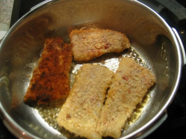 Fisch: Tomaten-Seelachsfilet mit einem Salbei-Sahne-Sößchen - Rezept - Bild Nr. 5
