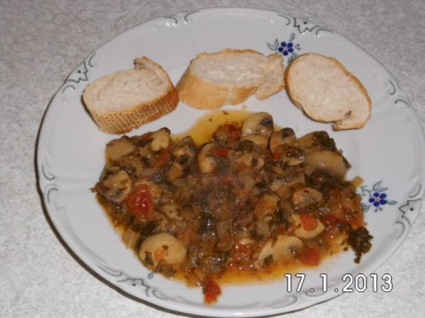 Lecker saftiges Champignon Gemüse - Rezept