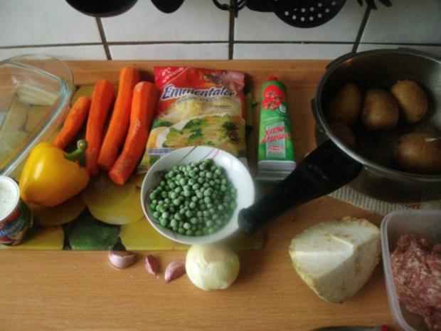 Kartoffeln - Möhren - Bolognese-Schichtgratin.... - Rezept - Bild Nr. 2