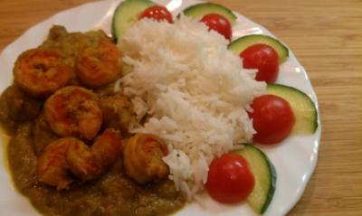 Rezept: Garnelen-Kokos-Curry (Prawn Malaikari)