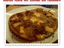 Eier: Rührei mit Schwarzwälder Schinken und Camenbert - Rezept
