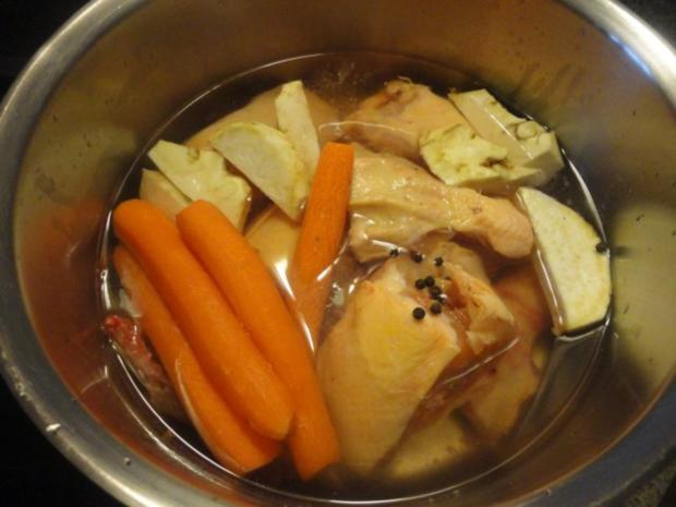 eingemachte Hühner Suppe mit Brösel Knödel - Rezept - Bild Nr. 3