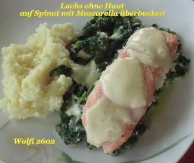 Fisch : Lachs auf Blatt-Spinat gedünstet (ohne Fix-Päckchen) - Rezept - Bild Nr. 5