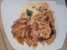 Schnitzel mit selbstgemachten Kartoffelspalten - Rezept