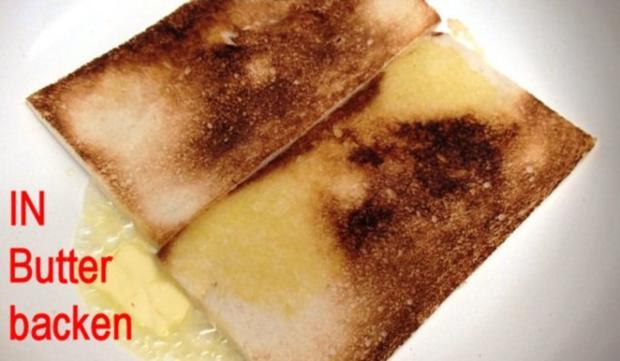 Champignon-Schinken-Toast à l`Armagnac - Rezept - Bild Nr. 3
