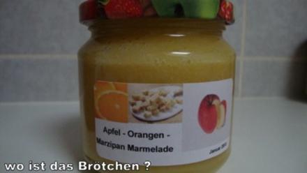 Apfel-Orangen-Marzipan Marmelade - Rezept