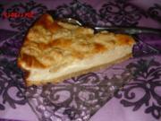Streusel-Quark-Sahne-Kuchen, - Rezept