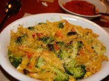 Gemüse-Nudel-Auflauf mit Tomatensoße - Rezept