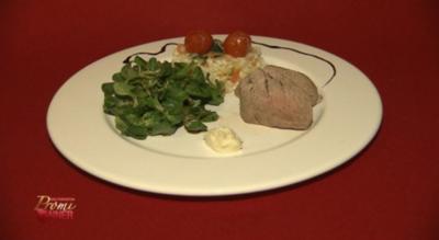 Pochiertes Kalbsfilet an Gemüserisotto (Kathy Weber) - Rezept