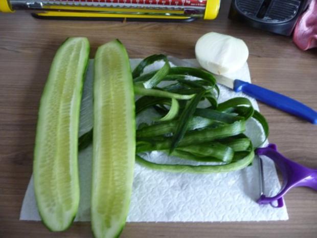 Fisch : Gedünsteter Tilapia an Meerrettich - Dill - Soße mit Kartoffeln und Gurkensalat - Rezept - Bild Nr. 19