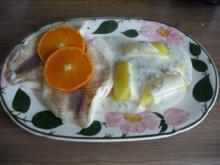 Fisch : Gedünsteter Tilapia an Meerrettich - Dill - Soße mit Kartoffeln und Gurkensalat - Rezept