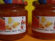 Pink Grapefruit- Bananen-Aperol Marmelade - Rezept