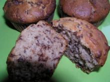 Erdnussbutter - Muffin mit Erdbeermarmelade - Rezept
