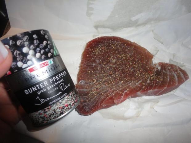 Thunfisch Steak mit Rotwein Sauce für Monika - Rezept - Bild Nr. 7