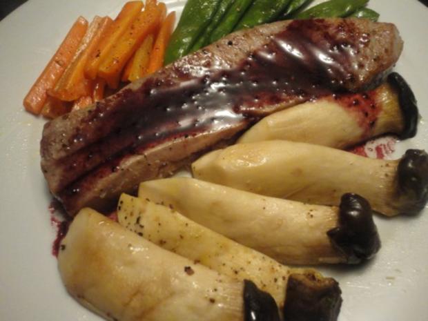 Thunfisch Steak mit Rotwein Sauce für Monika - Rezept - Bild Nr. 2