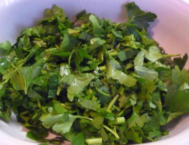 Gemüsebeilage : Petersilie - Lauch -  Spinat - Rezept - Bild Nr. 8