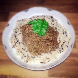 Hack-Limetten-Pfanne mit Mungobohnensprossen - Rezept