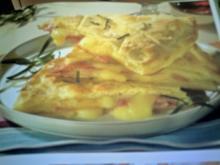 Focaccia mit Schinken und Käse - Rezept