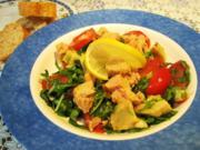 Rucolasalat mit Artischocken und Thunfisch ... - Rezept