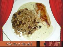 Hähnchen mit Senfsoße und Cola-Reis - Rezept