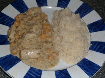 Hähnchngeschnetzeltes in Tahina-Soße und Kichererbsen - Rezept