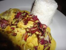 Curry Honig Hühnchen in Radiccio Sauce - Rezept