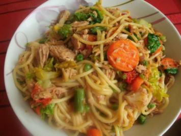 Spaghetti mit Thunfisch - Rezept