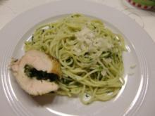 Spaghetti mit Spinatpesto à la Heiko - Rezept