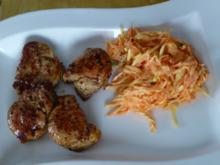 Wildschweinmedaillions mit würzigem Karottensalat - Rezept