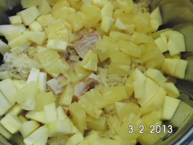 Kasseler-Ananas-Kraut - Rezept - Bild Nr. 3
