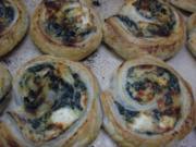 Pitaschneckchen mit Spinat und Fetakäse - Rezept