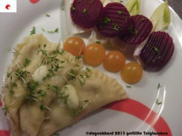 Hüttenkäse Tascherl aus dem oberösterreichischen Hintergebirge - Rezept