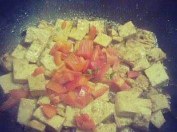Pak-Choi-Tofu mit vietnamesischen Nudlsalat - Rezept