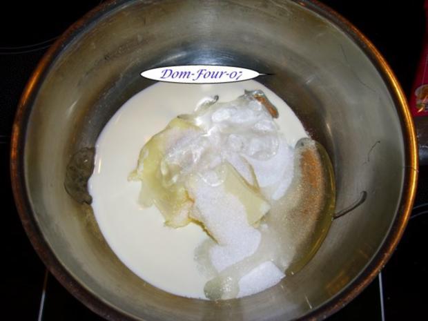 Vanillesahne im Florentinertörtchen & Schoko-Orangen-Sahne mit Mangoscheiben als Törtchen - Rezept - Bild Nr. 4