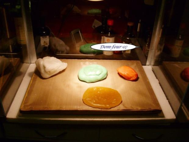 Vanillesahne im Florentinertörtchen & Schoko-Orangen-Sahne mit Mangoscheiben als Törtchen - Rezept - Bild Nr. 6