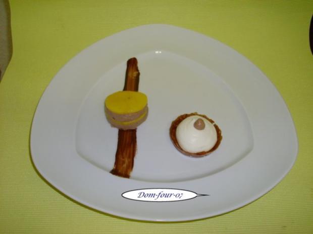 Vanillesahne im Florentinertörtchen & Schoko-Orangen-Sahne mit Mangoscheiben als Törtchen - Rezept - Bild Nr. 10