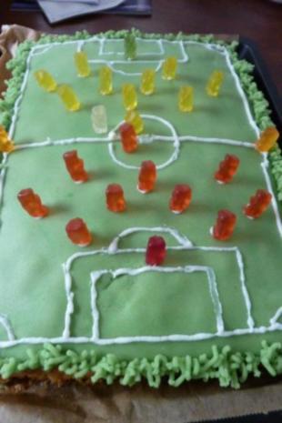 Fussballfeld Kuchen