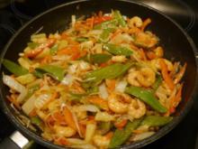 Chinesische Gemüsepfanne mit Scampis - Rezept