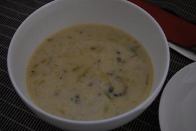 Lauch-Käse-Suppe mit Hack - Rezept