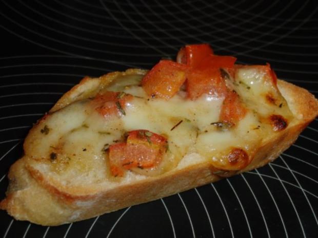 Tomate-Mozzarella Bruschetta - Rezept