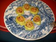Kleingerichte: Riesengarnelen auf Avocadomayonaise und Kraeuterbaguette - Rezept