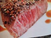 Rinderfilet in Balsamicosirup mit Sesamgemüse - Rezept - Bild Nr. 2