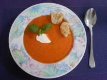 Tomatensuppe mit selbstbemachten Croûtons - Rezept