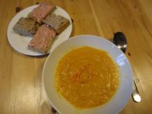 Karotten-Creme-Suppe mit Einlage - Rezept